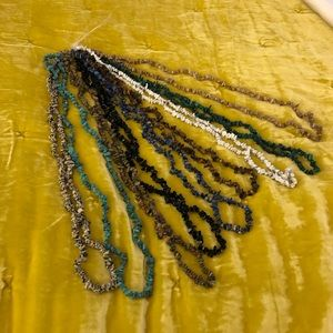 Jewelry - Set of 19 Unfinished Gemstone Strand Necklaces